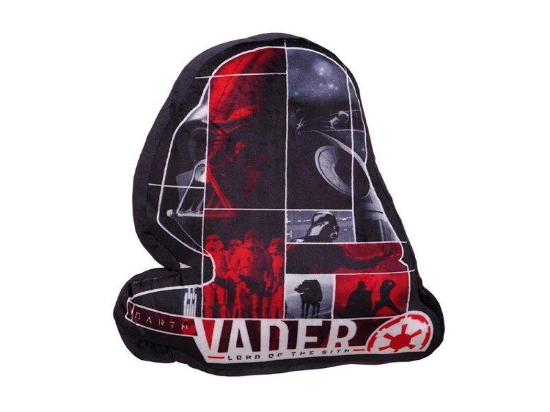 Levně Mikroplyšový dekorační polštářek tvarovaný Dart Vader