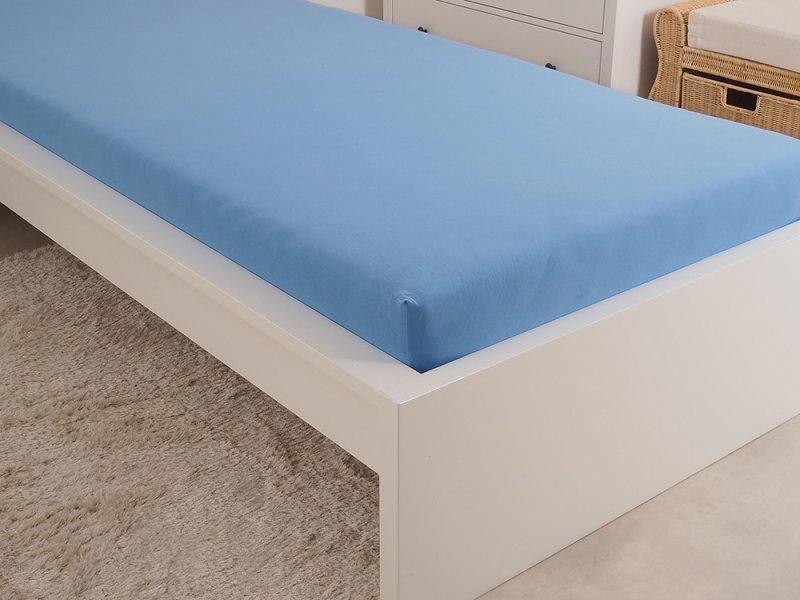Levně Mako Jersey prostěradlo modrá 180x200