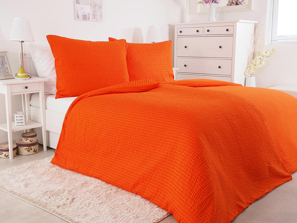 B.E.S. Petrovice Luxusní mikrokrepové nežehlivé povlečení 140x200 - orange