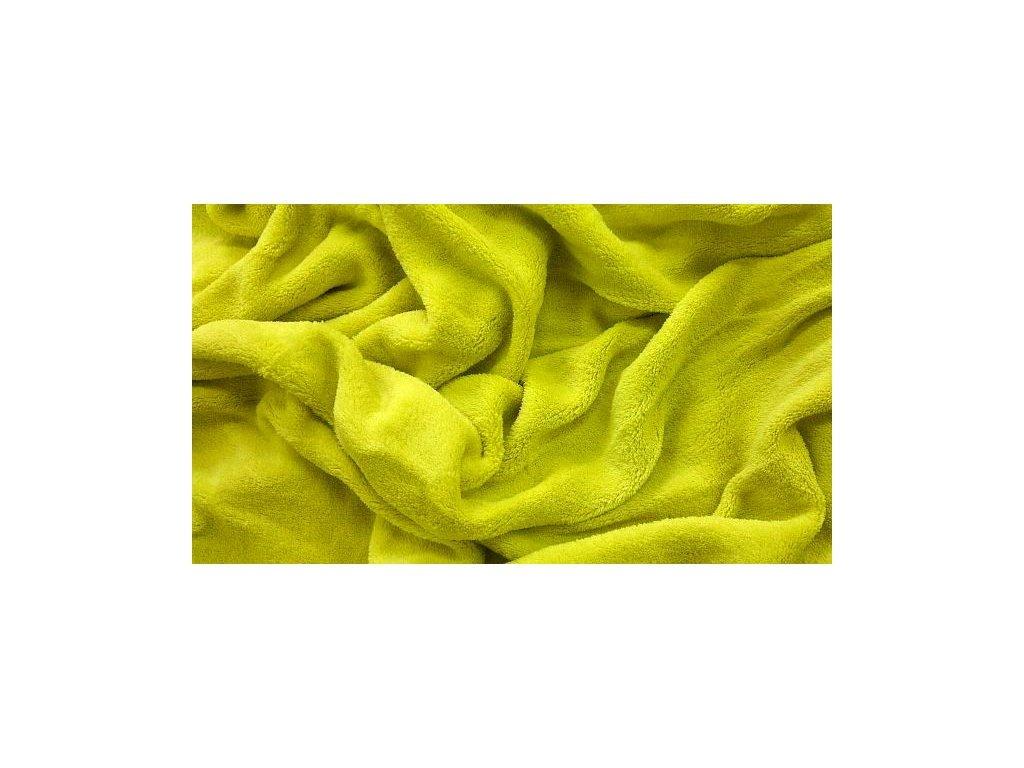 Prostěradlo mikroplyš - Žlutozelená 180x200 cm