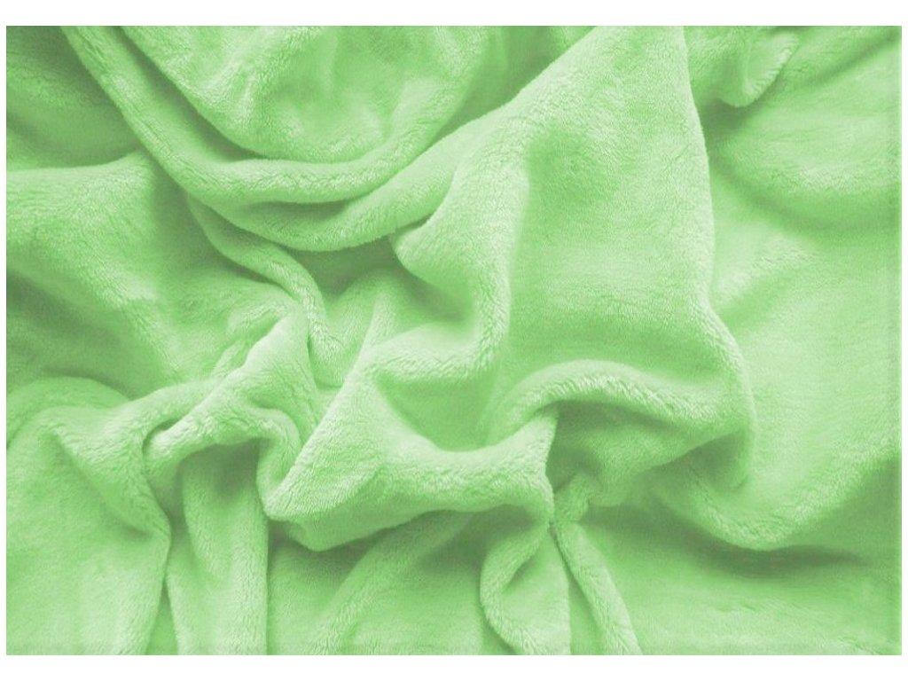 Prostěradlo mikroplyš - zelená 180x200 cm