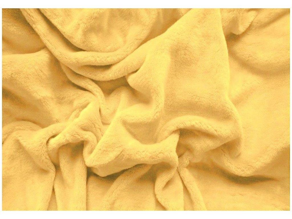 Prostěradlo mikroplyš - Žlutá 180x200 cm