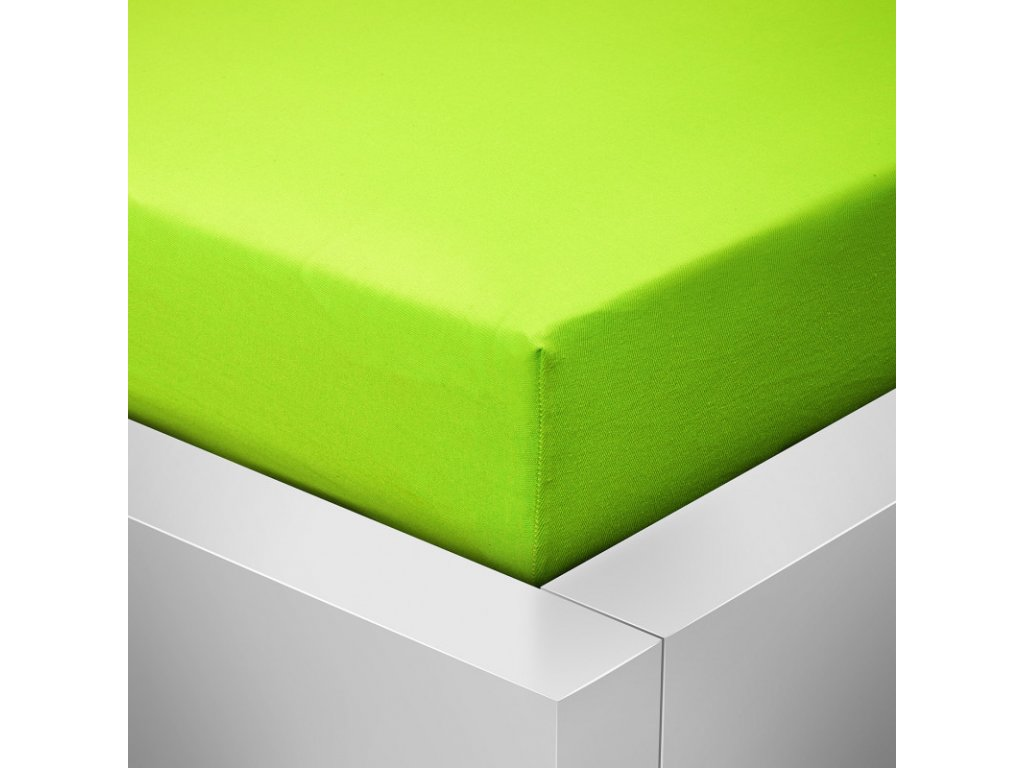Prostěradlo Jersey Top 180x200 cm zelená
