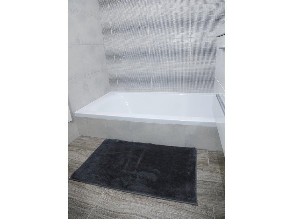 Koupelnová předložka Králík 50x80cm - tmavá šedá