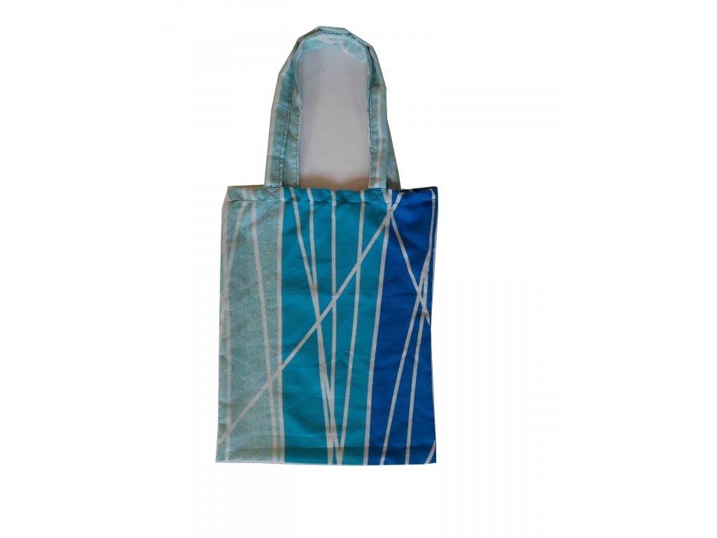 Látková nákupní taška flanel - modrá