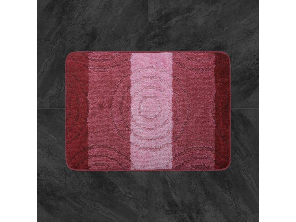 Koupelnová předložka Comfort 50x80cm- červené pruhy
