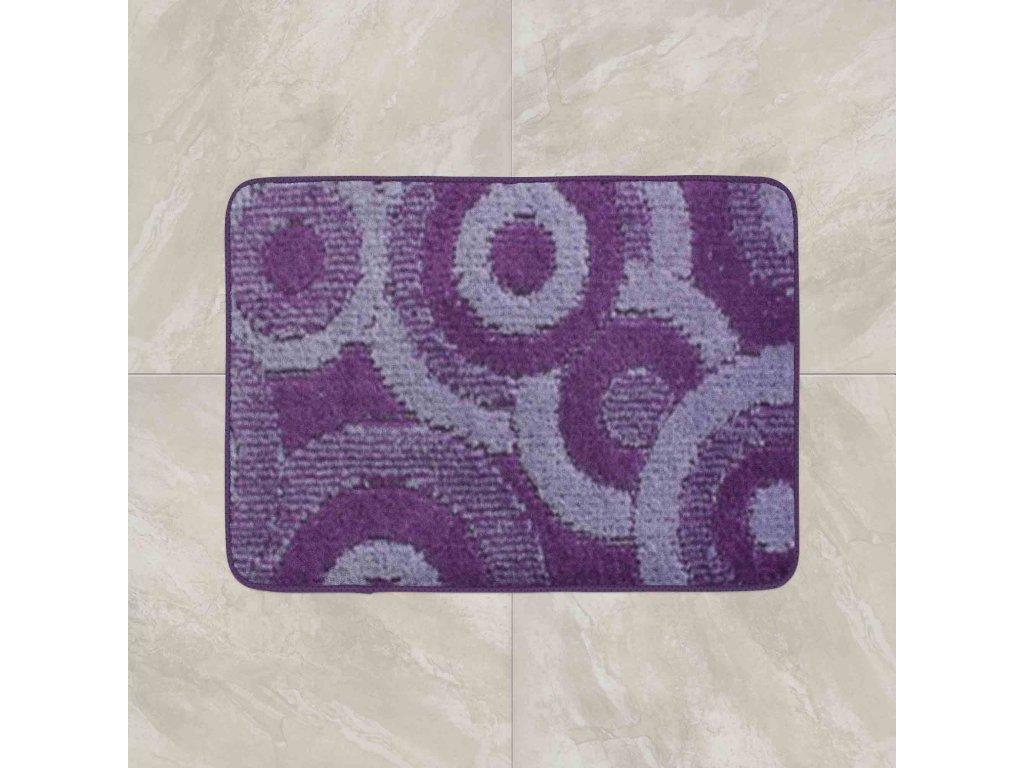 Koupelnová předložka Comfort 50x80cm - fialové kruhy