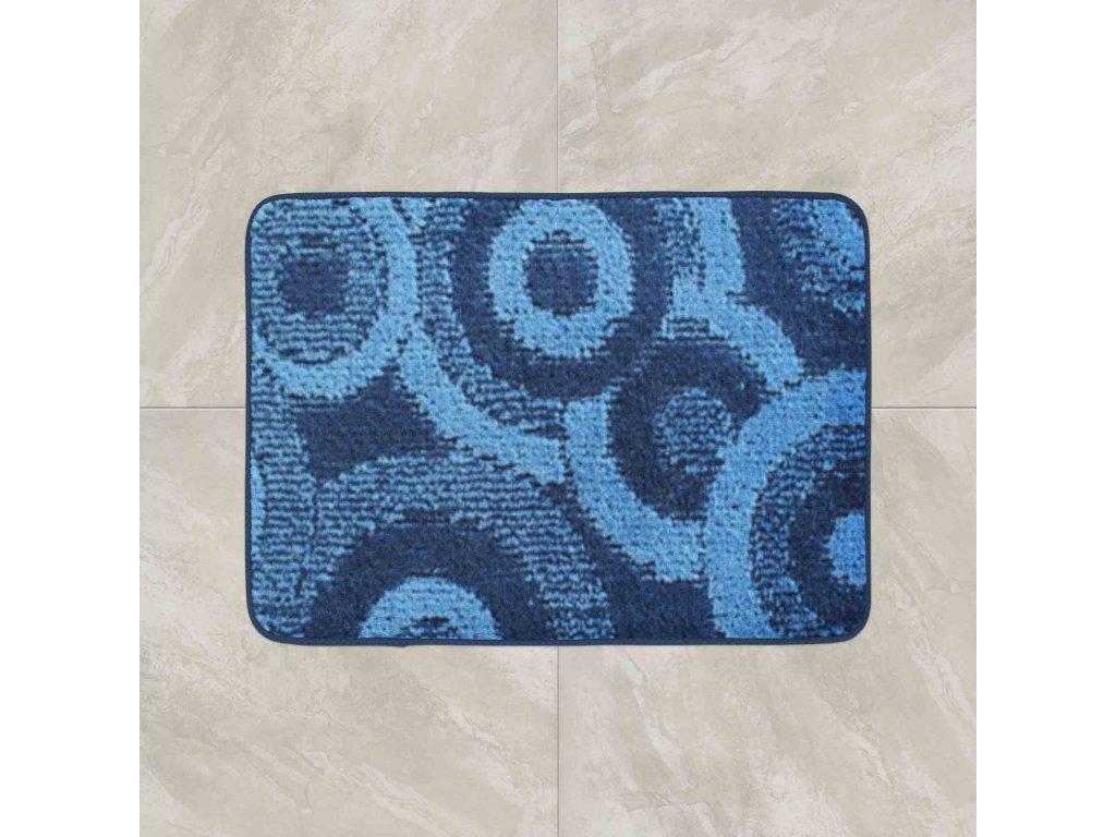 Koupelnová předložka Comfort 50x80cm - modré kruhy
