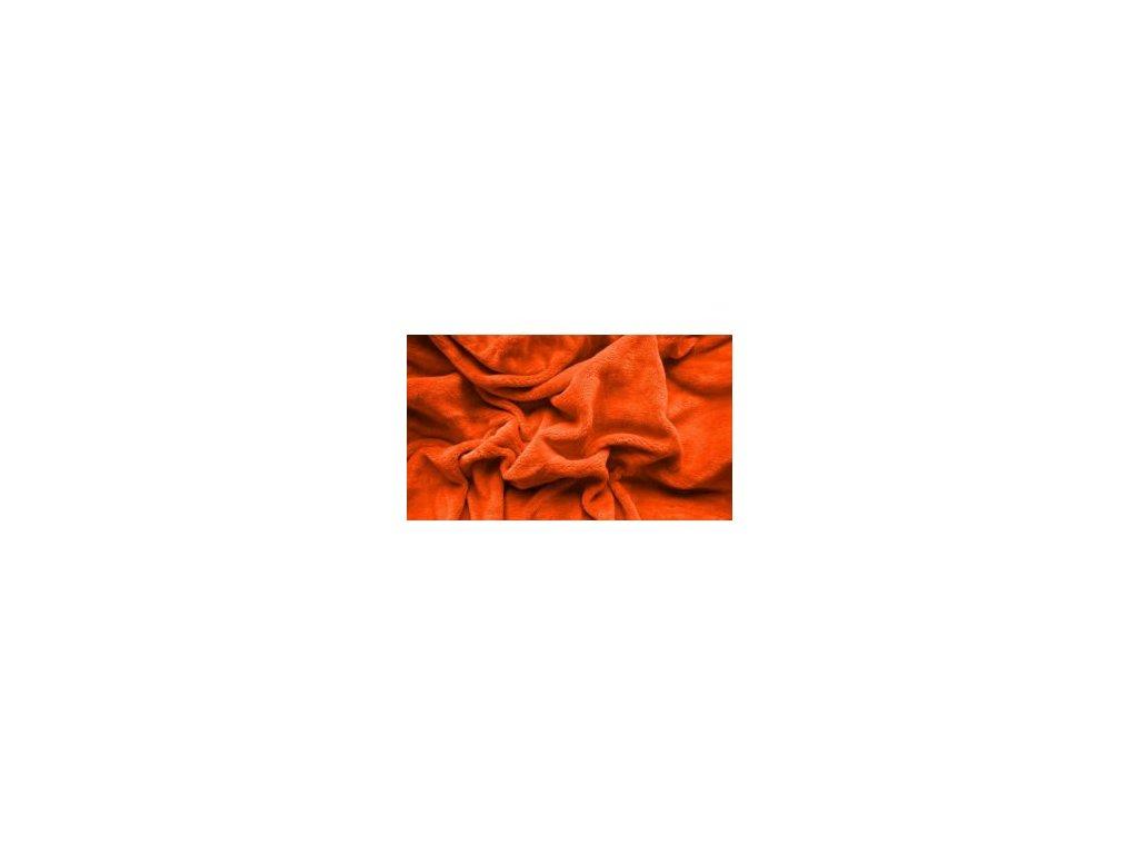 Prostěradlo mikroplyš - Oranžová 180x200 cm