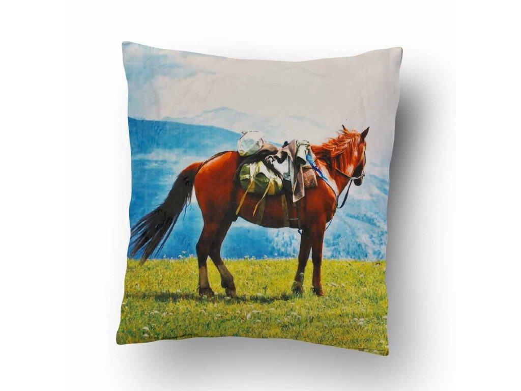 Polštářek Mikroplyš Kůň