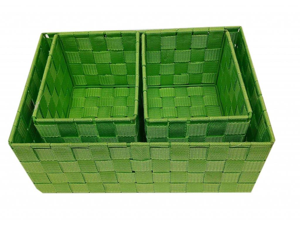 Košík - set zelený