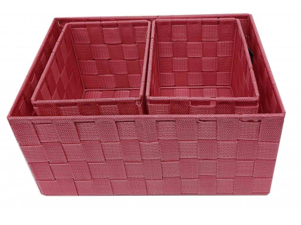 Košík - set růžový