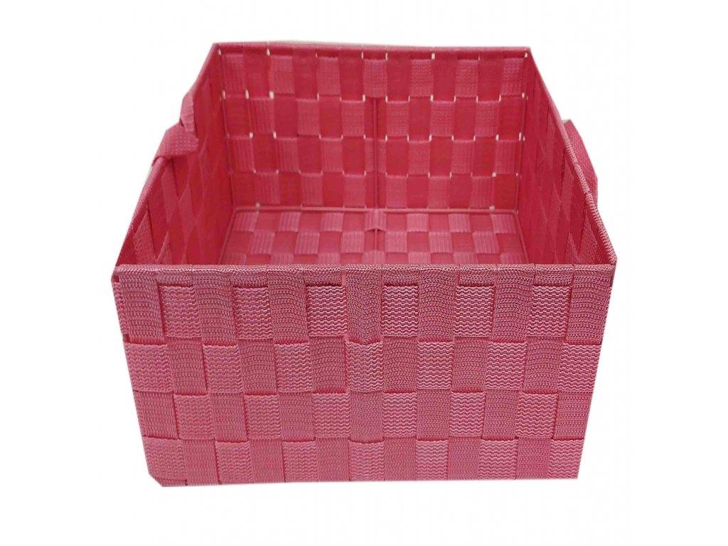 Košík růžový 25x17x13
