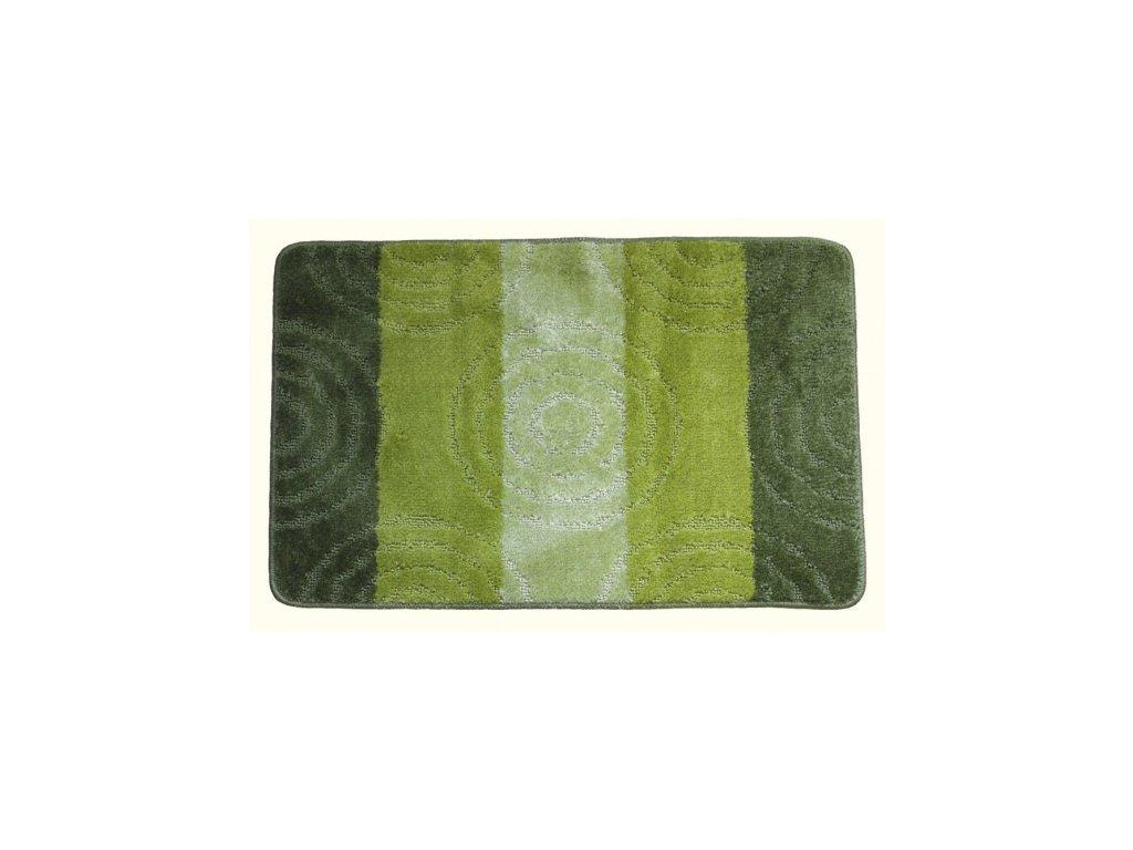 Koupelnová předložka Comfort 50x80cm- zelené pruhy