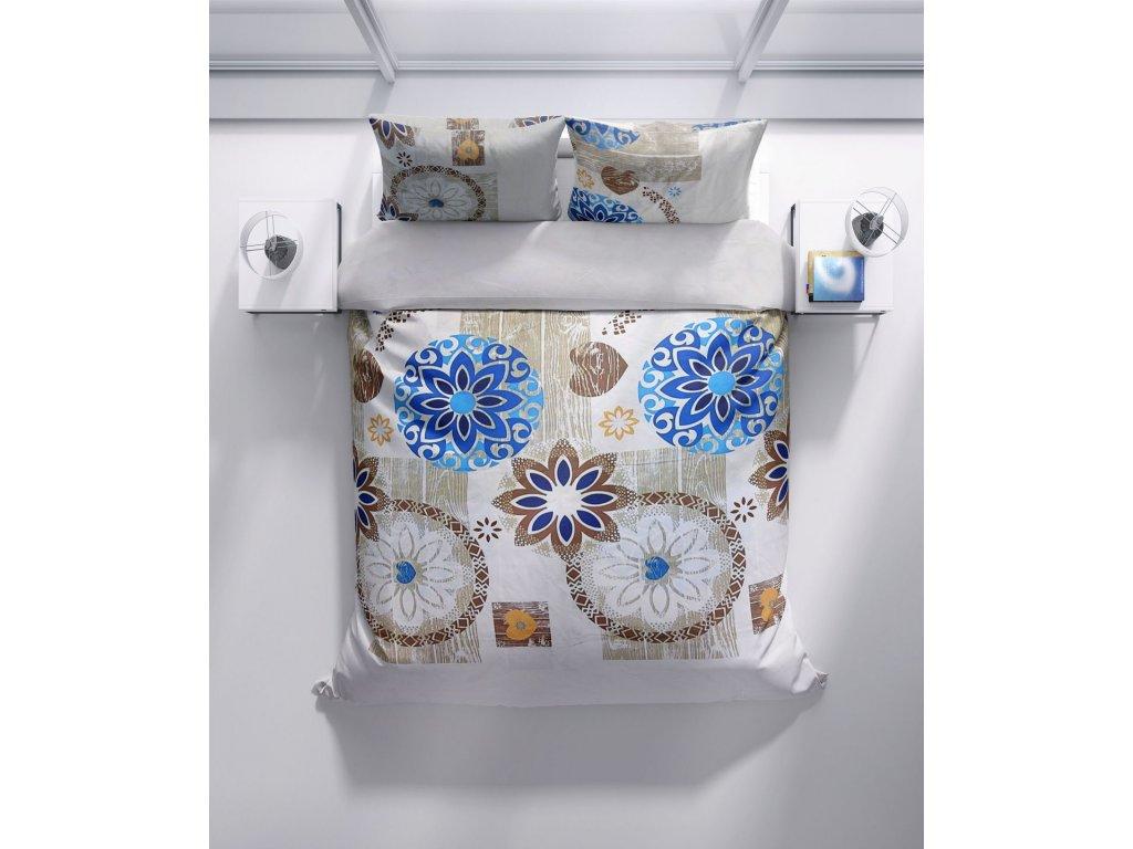 Bavlněné Povlečení Modré mandaly