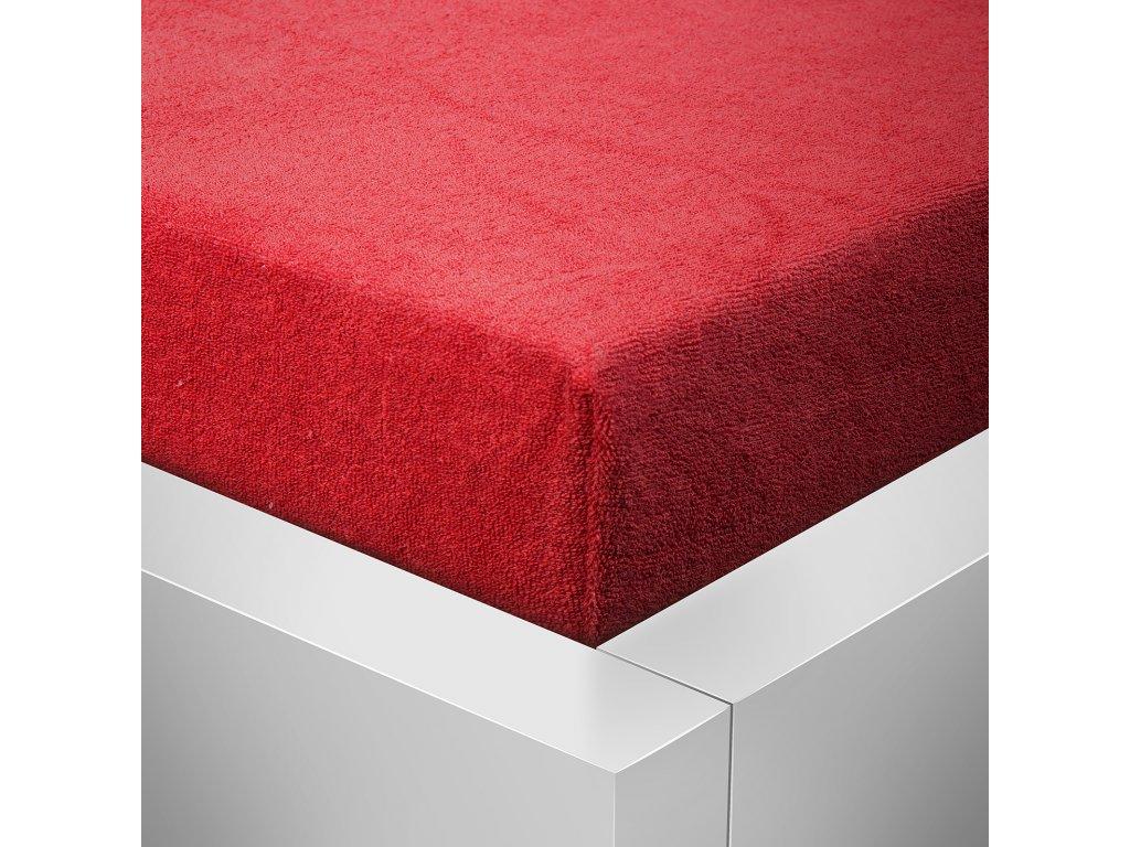 Prostěradlo Froté II. jakost 180x200cm červená