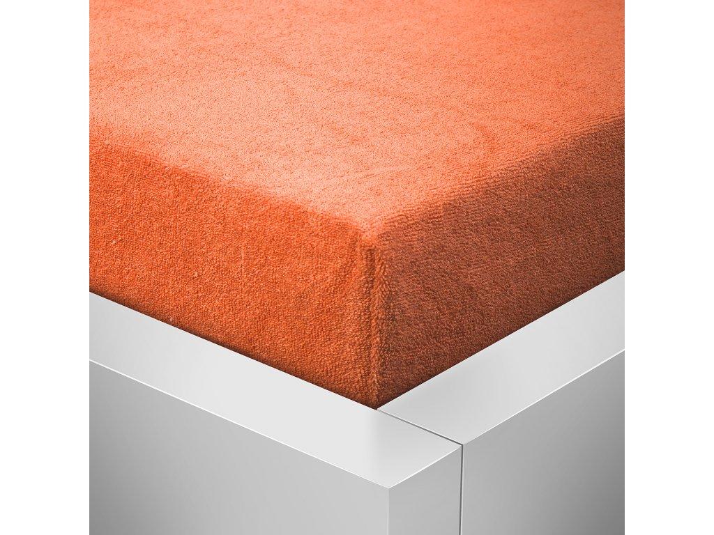 Prostěradlo Froté Standard 180x200cm oranžová