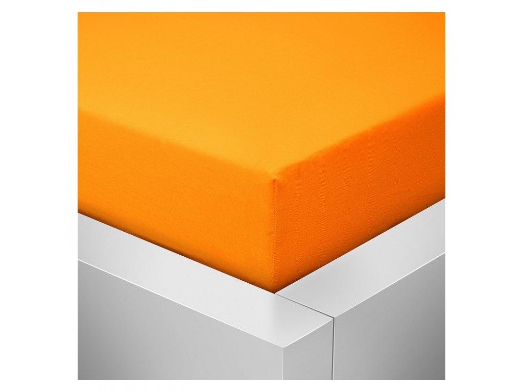 Prostěradlo Jersey Top 140x200 cm oranžová