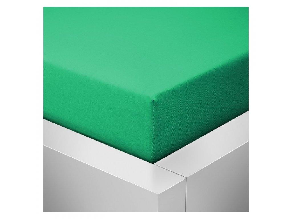 Prostěradlo Jersey Top 140x200 cm tmavá zelená