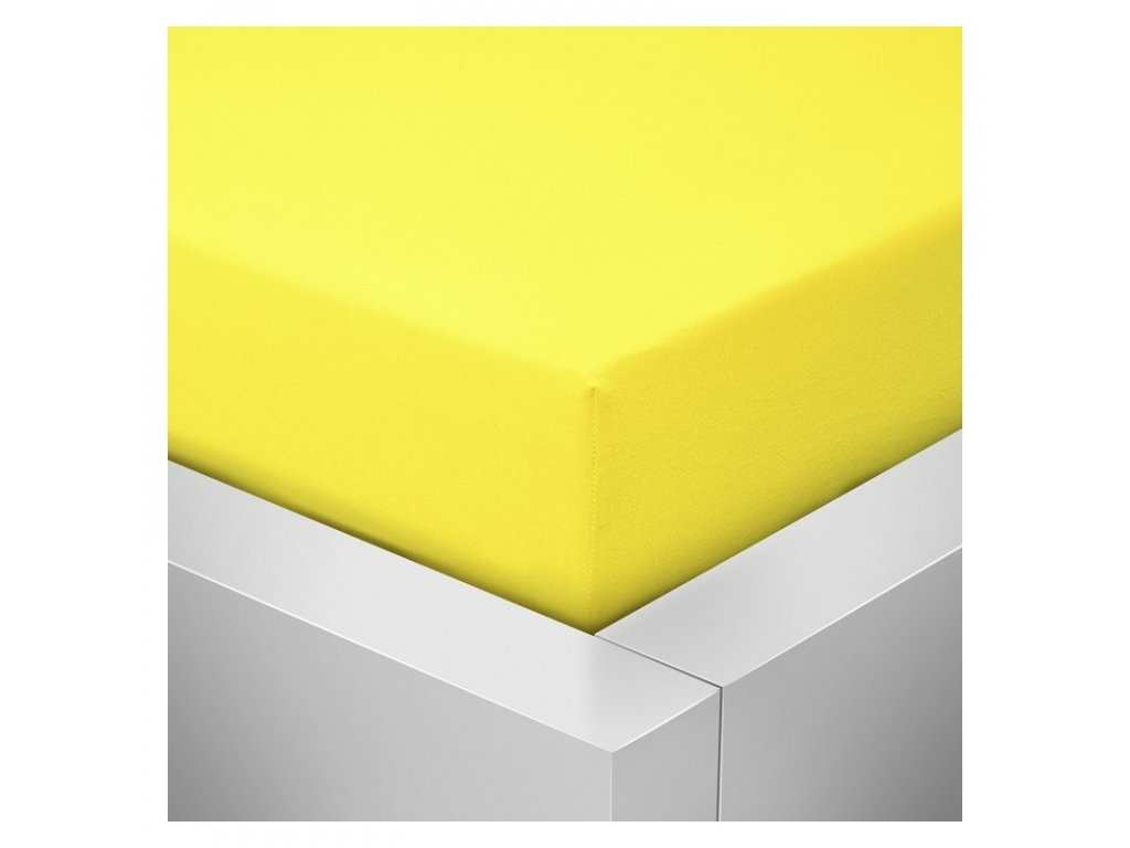 Prostěradlo Jersey Top 160x200 cm žlutá