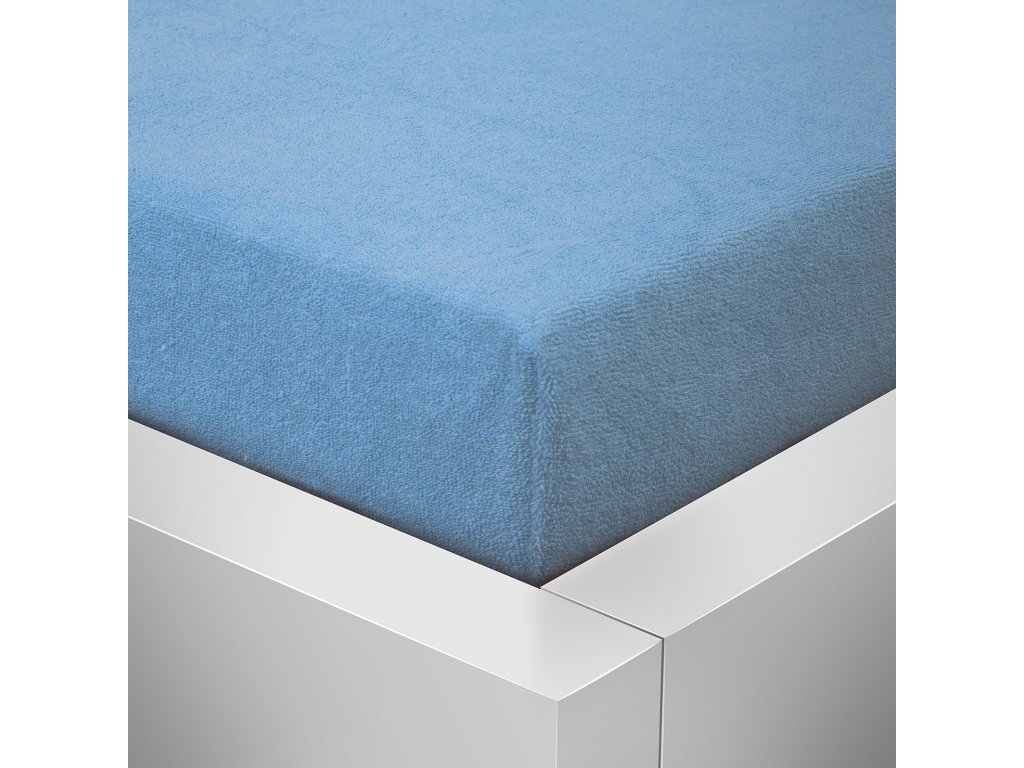 Prostěradlo Froté Top 140x200 cm světle modrá