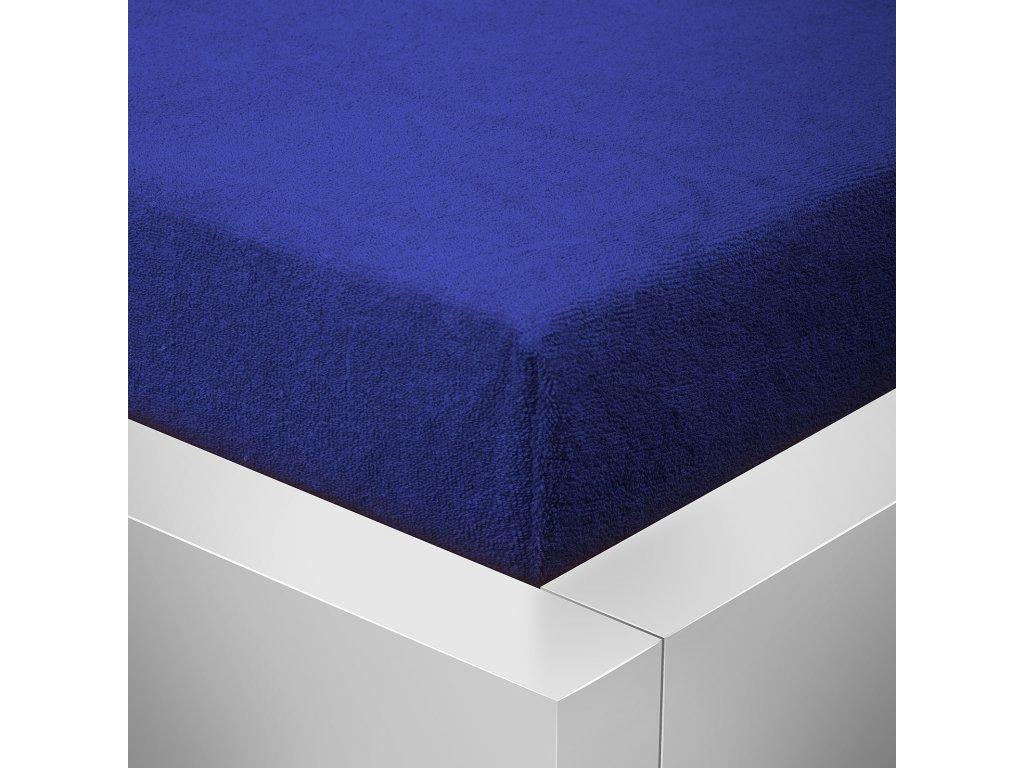 Prostěradlo Froté Top 160x200 cm tmavě modrá