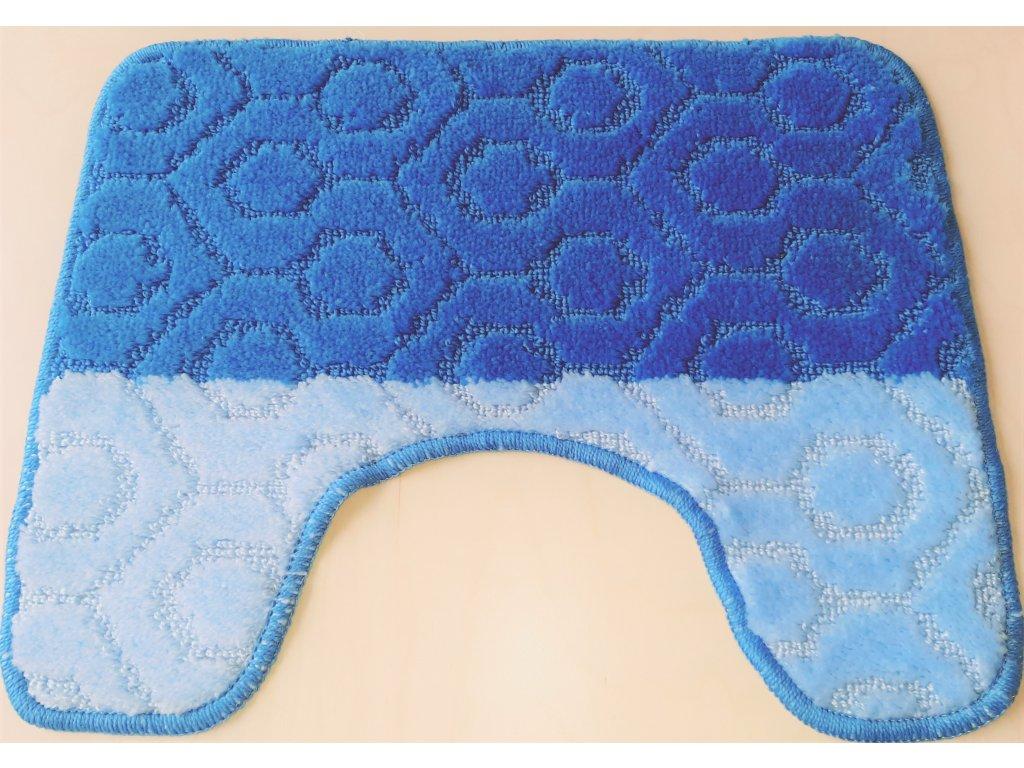 Předložka na WC 40x50cm - modrý vzor