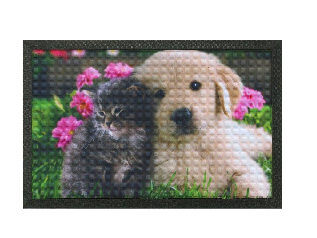 Rohožka - Pejsek s kočičkou