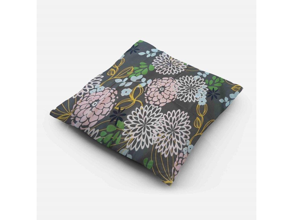 Povlak na polštář Zelené květy 70x90 cm