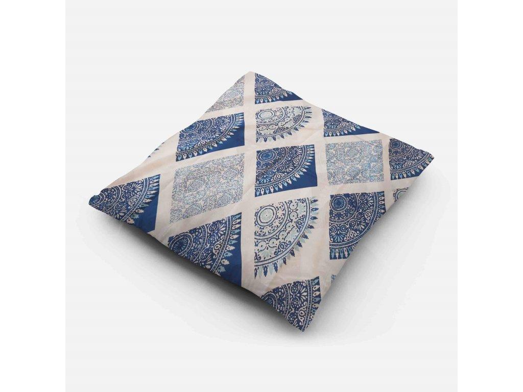 Povlak na polštář Modrá mandala 70x90 cm