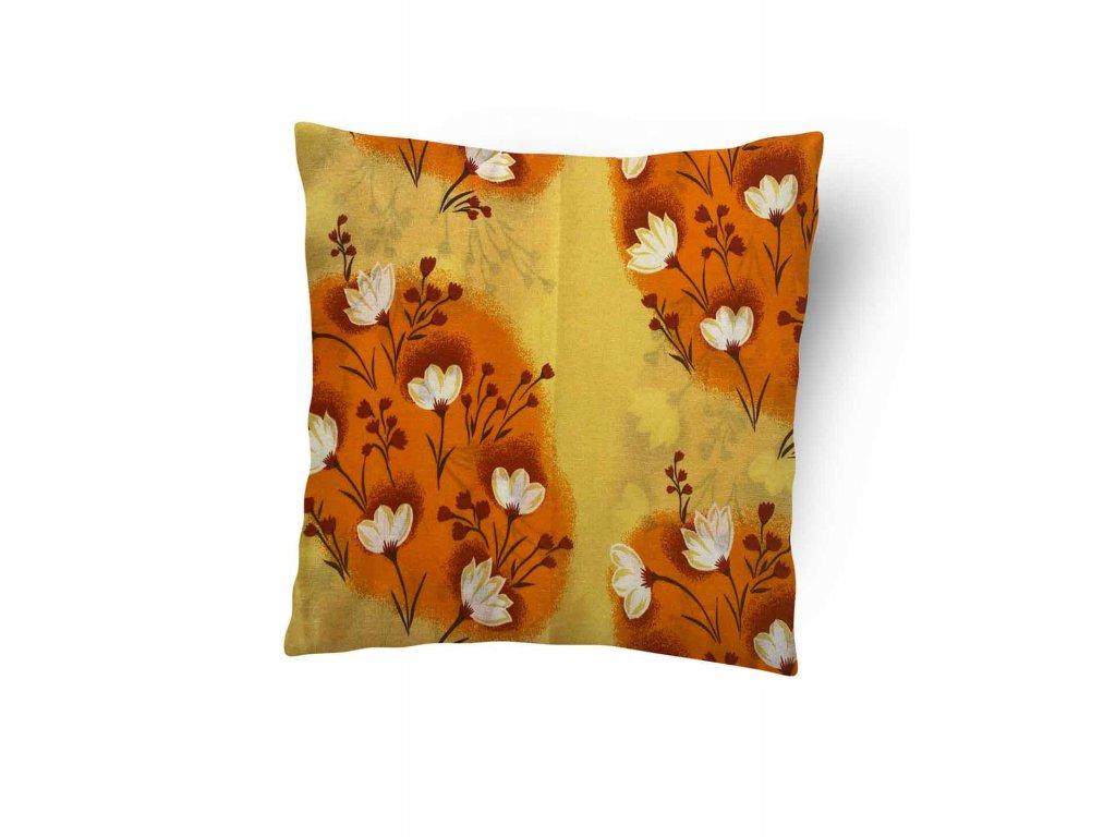 Povlak na polštářek Oranžové květy 40x50 cm