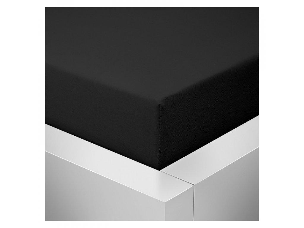 Prostěradlo Jersey Top 140x200 cm černá