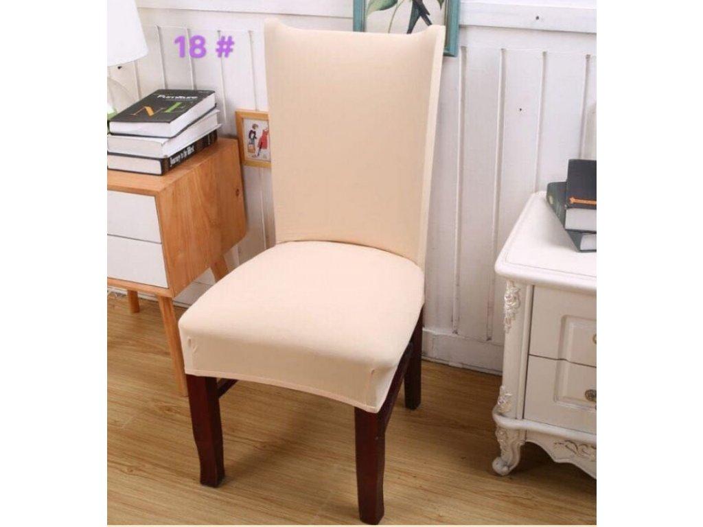 Potah na židli -Krémový