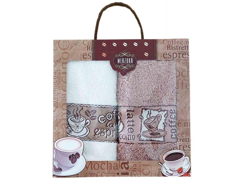 Set utěrek Káva v dárkovém balení (2 kusy)