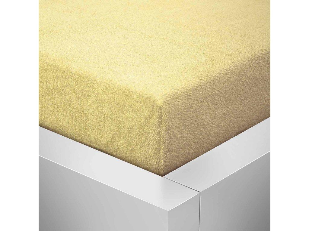 Prostěradlo Froté Top 160x200 cm světle žlutá