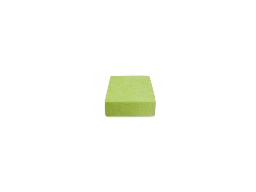 Prostěradlo Froté Top 180x200cm zelená oliva