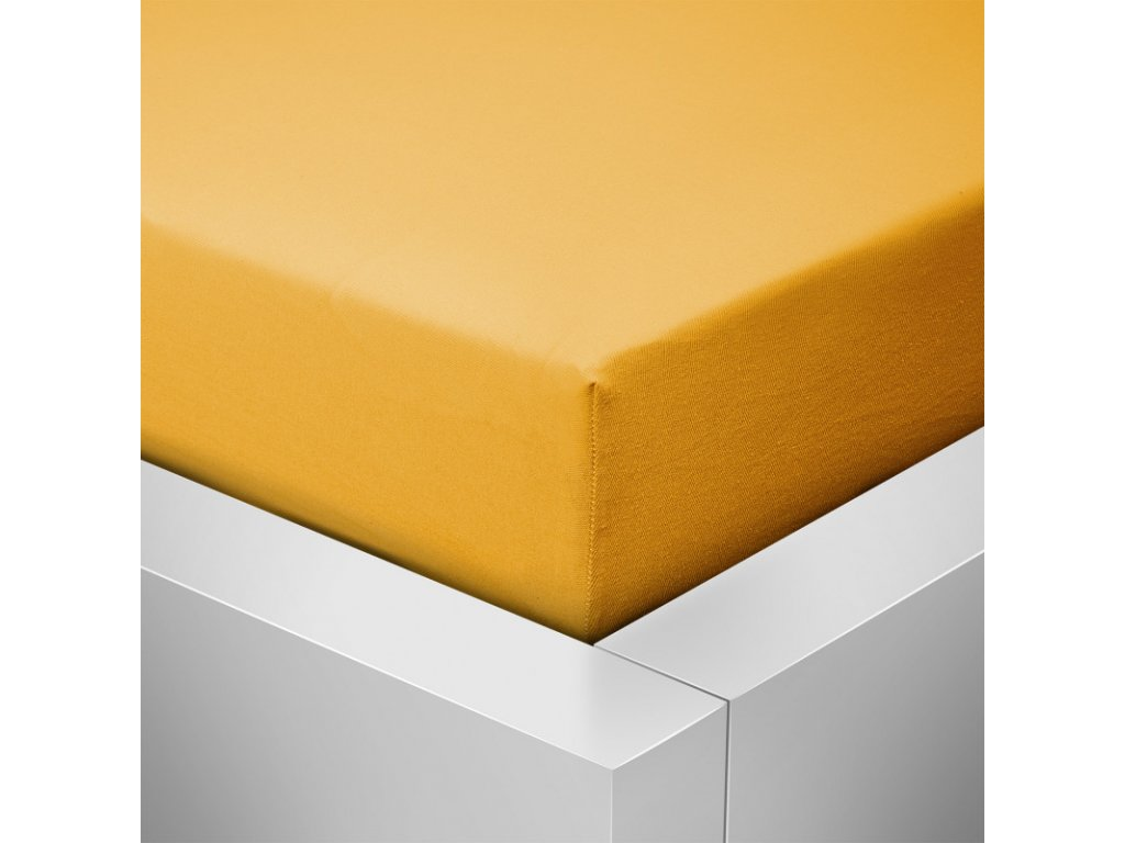 Prostěradlo Jersey Top 90x200cm žlutá curry