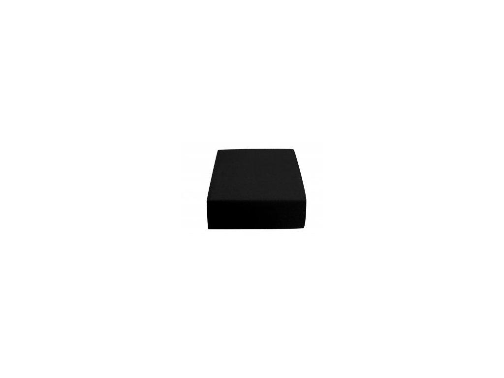 Poslední kusy - Prostěradlo Jersey II. jakost 70x140 cm černá