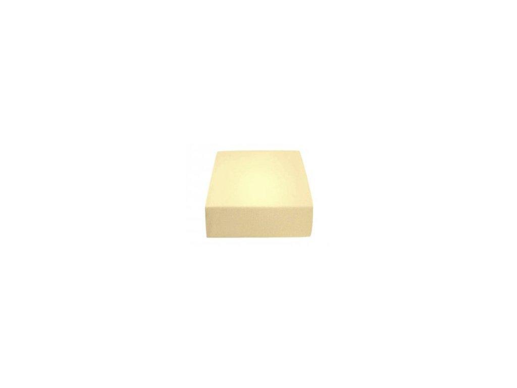 Poslední kusy - Prostěradlo Jersey II. jakost 70x140 cm krémová