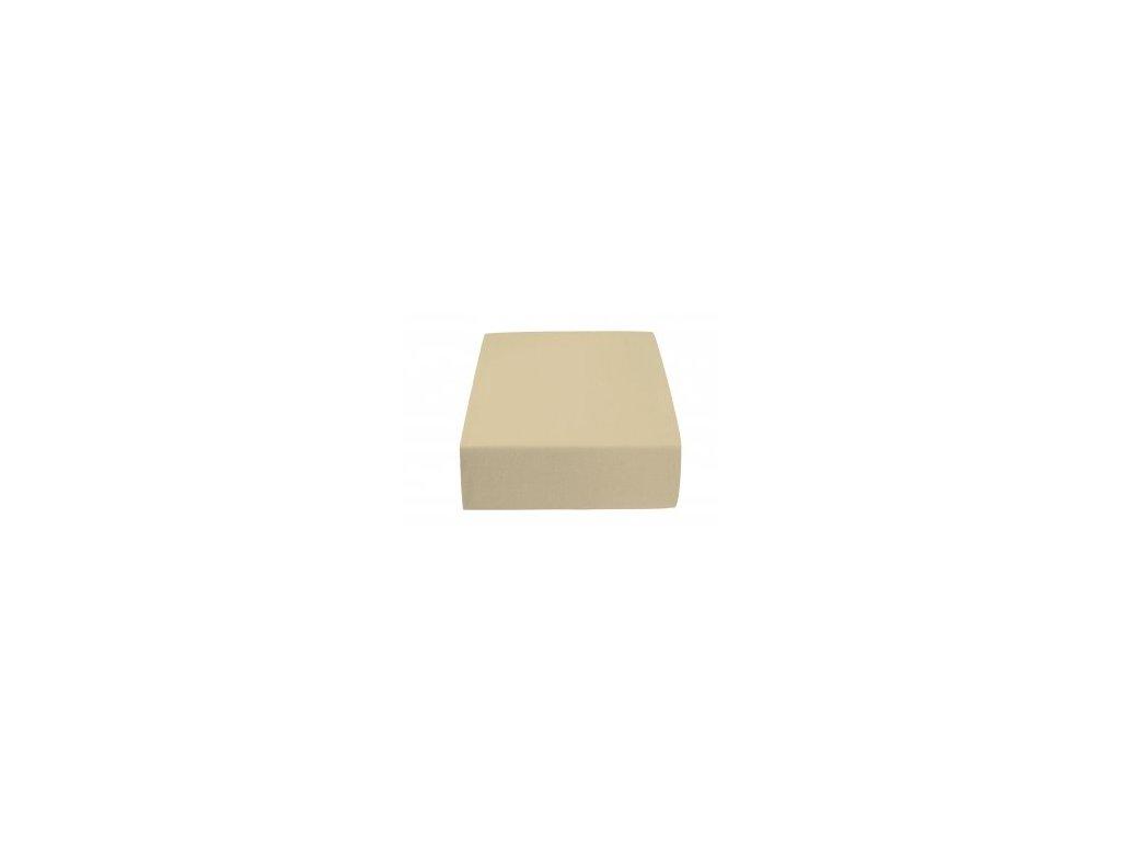 Poslední kusy - Prostěradlo Jersey II. jakost 70x140 cm světle hnědá