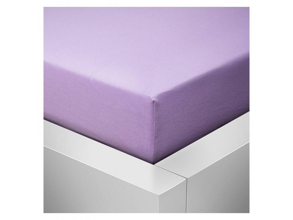 Prostěradlo Jersey Standard fialová lila 90x200 cm