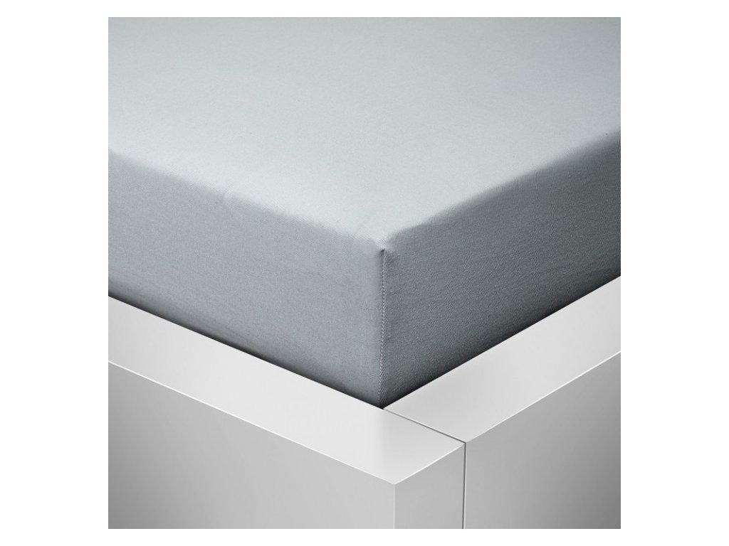 Prostěradlo Jersey Standard světle šedá 90x200 cm
