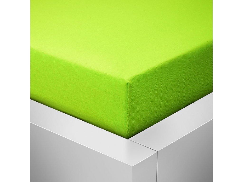 Prostěradlo Jersey Standard zelená 90x200 cm