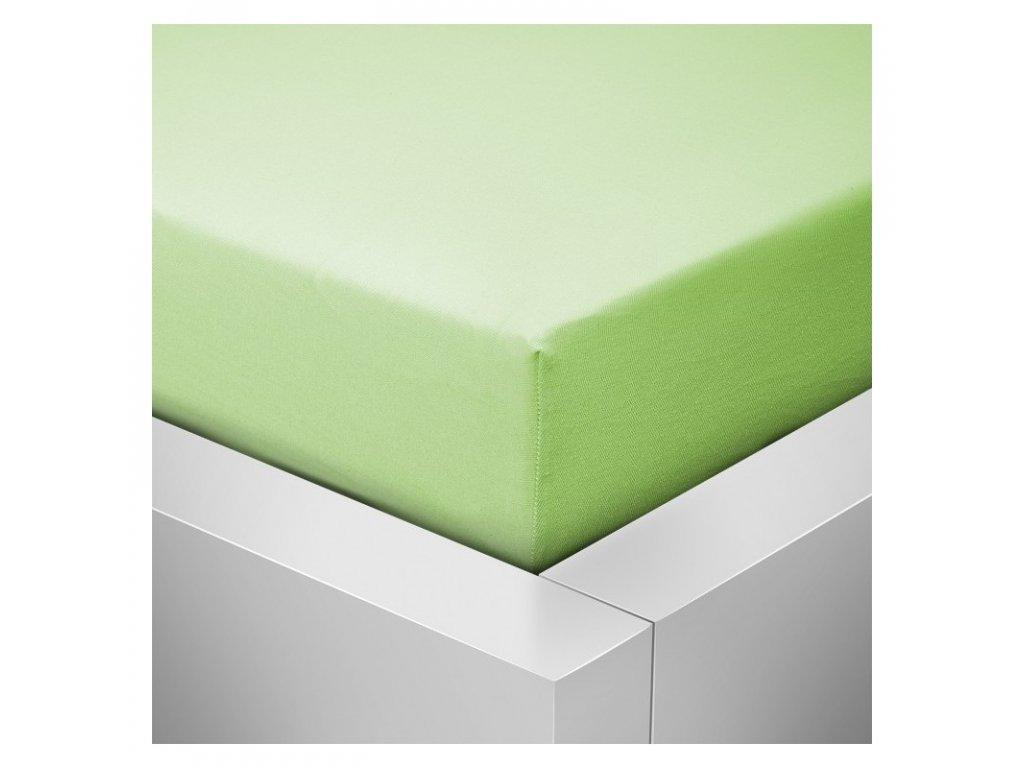 Prostěradlo Jersey II. jakost 180x200 cm světle zelená