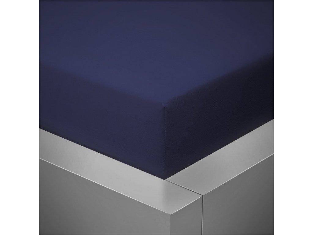 Prostěradlo Jersey II. jakost 180x200 cm tmavě modrá (petrolejová)