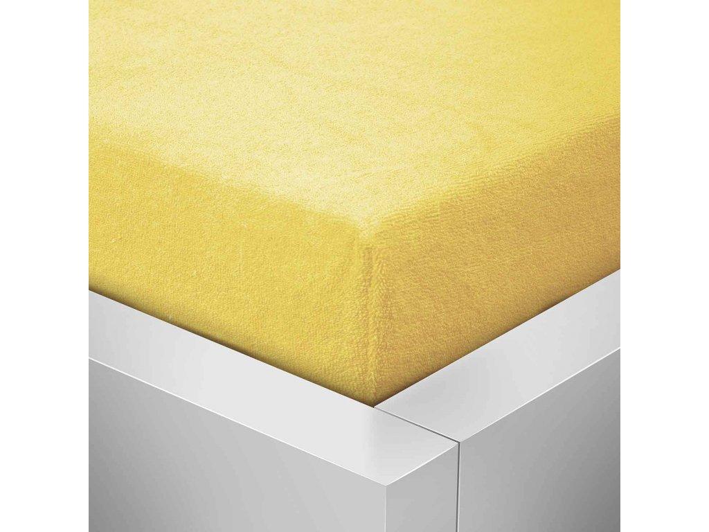 Prostěradlo Froté Top 90x200cm citronová žlutá