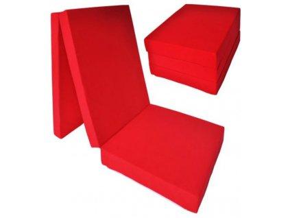 Skládací matrace červená