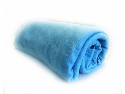 Fleecová Piknik deka Modrá