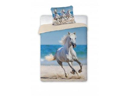 Bavlněné povlečení Bílý kůň