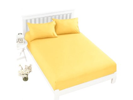 Prostěradlo Jersey Top 180x200 cm žlutá